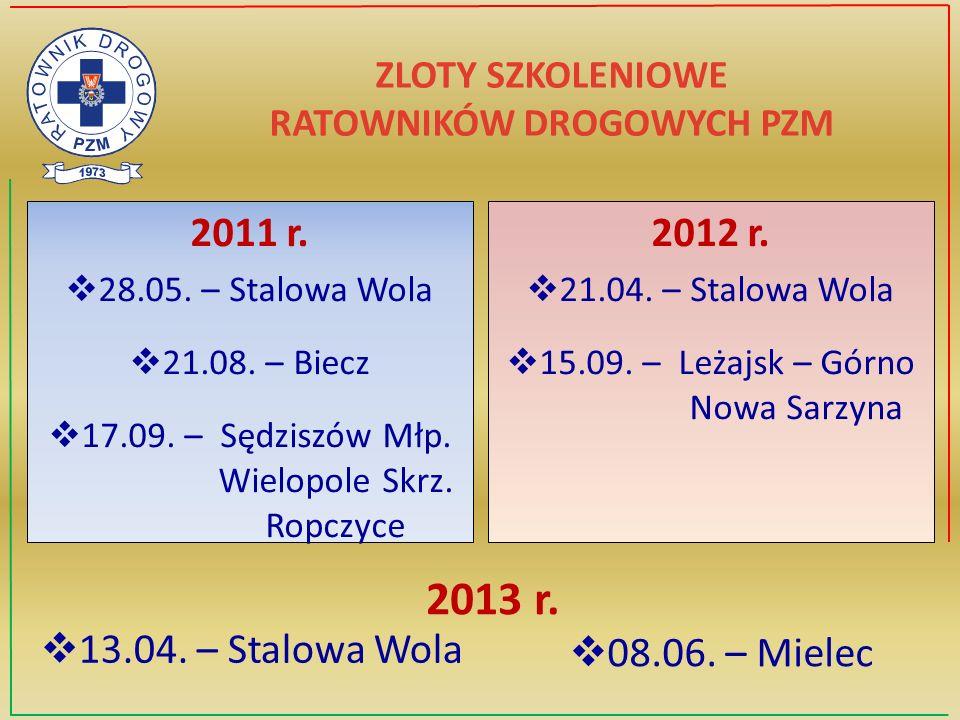 ZLOTY SZKOLENIOWE RATOWNIKÓW DROGOWYCH PZM 2011 r.