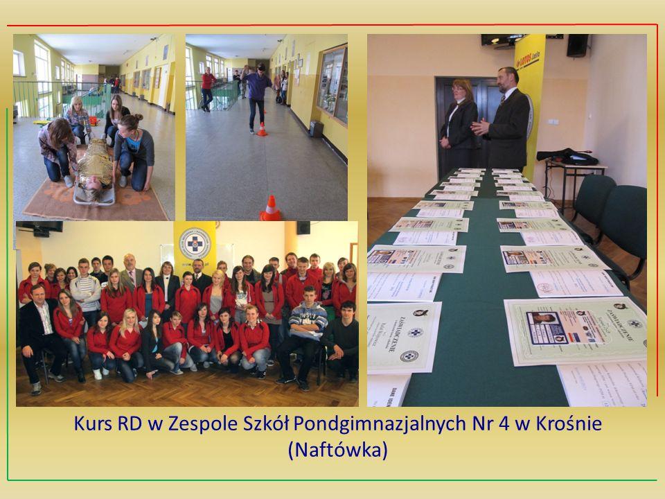 Kurs RD w Zespole Szkół Pondgimnazjalnych Nr 4 w Krośnie (Naftówka)