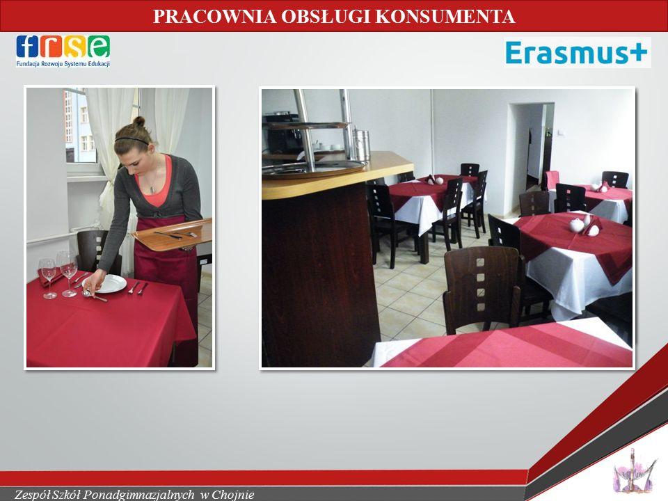 Zespół Szkół Ponadgimnazjalnych w Chojnie PRACOWNIA OBSŁUGI KONSUMENTA