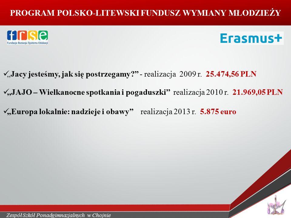 """PROGRAM POLSKO-LITEWSKI FUNDUSZ WYMIANY MŁODZIEŻY """"Jacy jesteśmy, jak się postrzegamy - realizacja 2009 r."""
