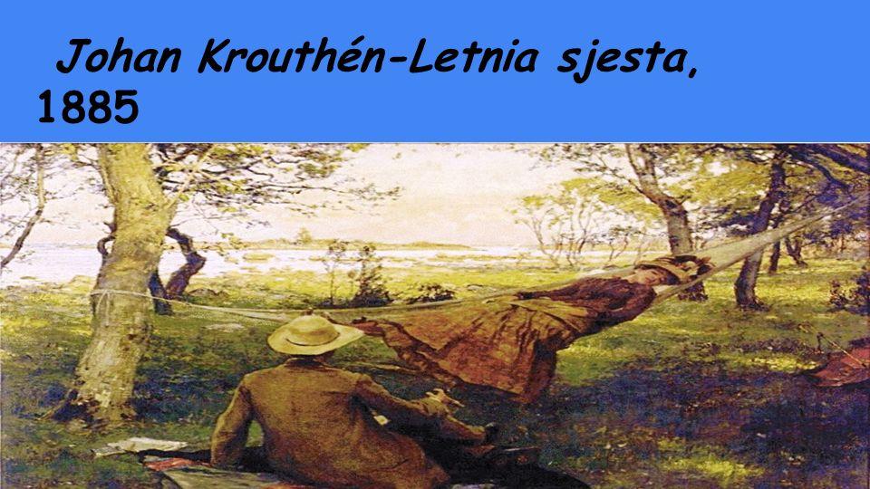 Johan Krouthén-Letnia sjesta, 1885