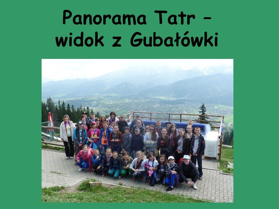 Panorama Tatr – widok z Gubałówki
