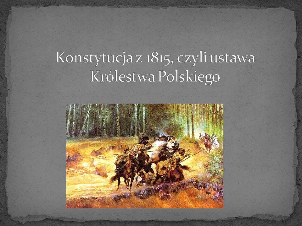 Konstytucja stanowiła Księstwo Warszawskie jako monarchię konstytucyjną z dziedzicznym władcą w osobie króla saskiego (księcia warszawskiego), który posiadał pełnię władzy wykonawczej oraz inicjatywę ustawodawczą, mianował wszystkich wysokich dostojników państwowych z wyjątkiem nieusuwalnych senatorów i sędziów.