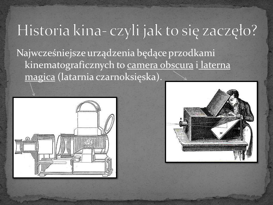 Pierwszy aparat do utrwalania scen ruchomych (tak zwany kinetoskop) zbudował w 1892 roku Thomas Alva Edison.