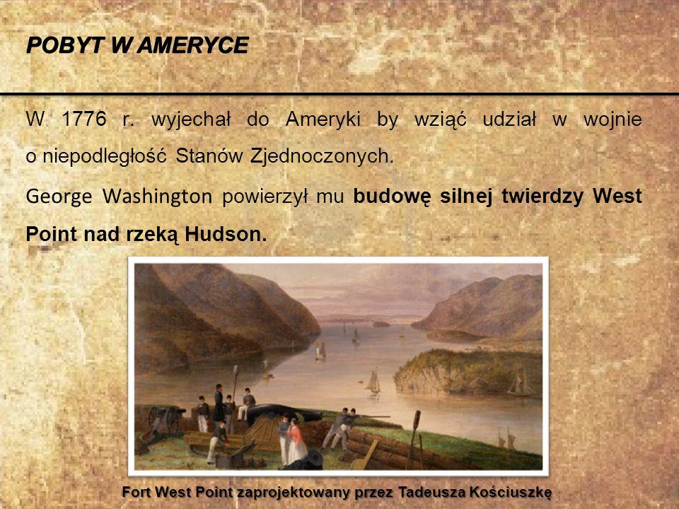 W uznaniu zasług, uchwałą Kongresu Tadeusz Kościuszko awansowany został 13 października 1783r.