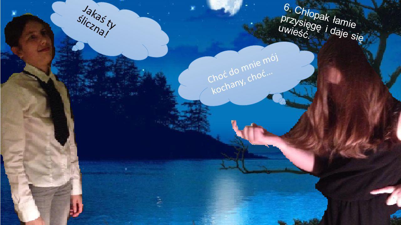 5. Ale chłopak nie dotrzymuje przysięgi. Cóż to za boskie stworzenie, wyłania się z tego jeziora!?