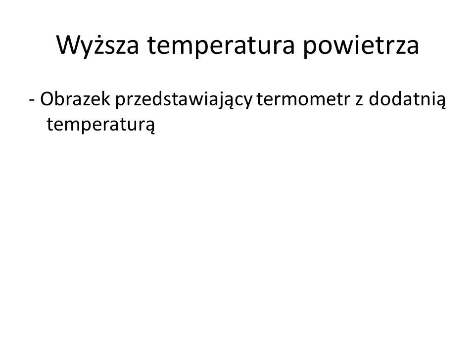 Wyższa temperatura powietrza - Obrazek przedstawiający termometr z dodatnią temperaturą
