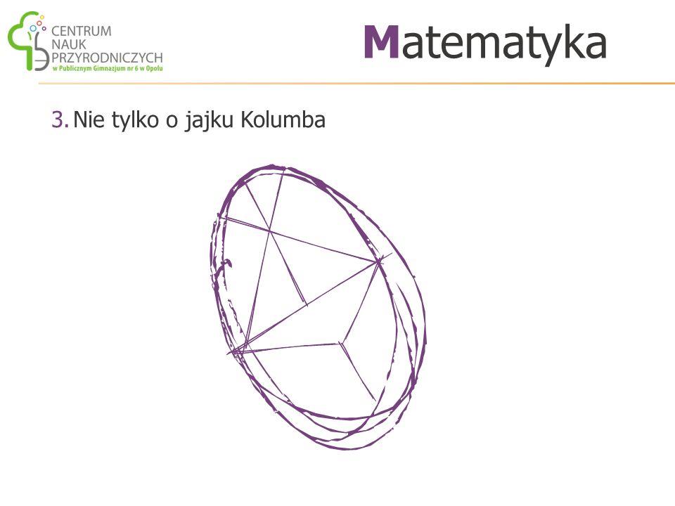 3.Nie tylko o jajku Kolumba Matematyka
