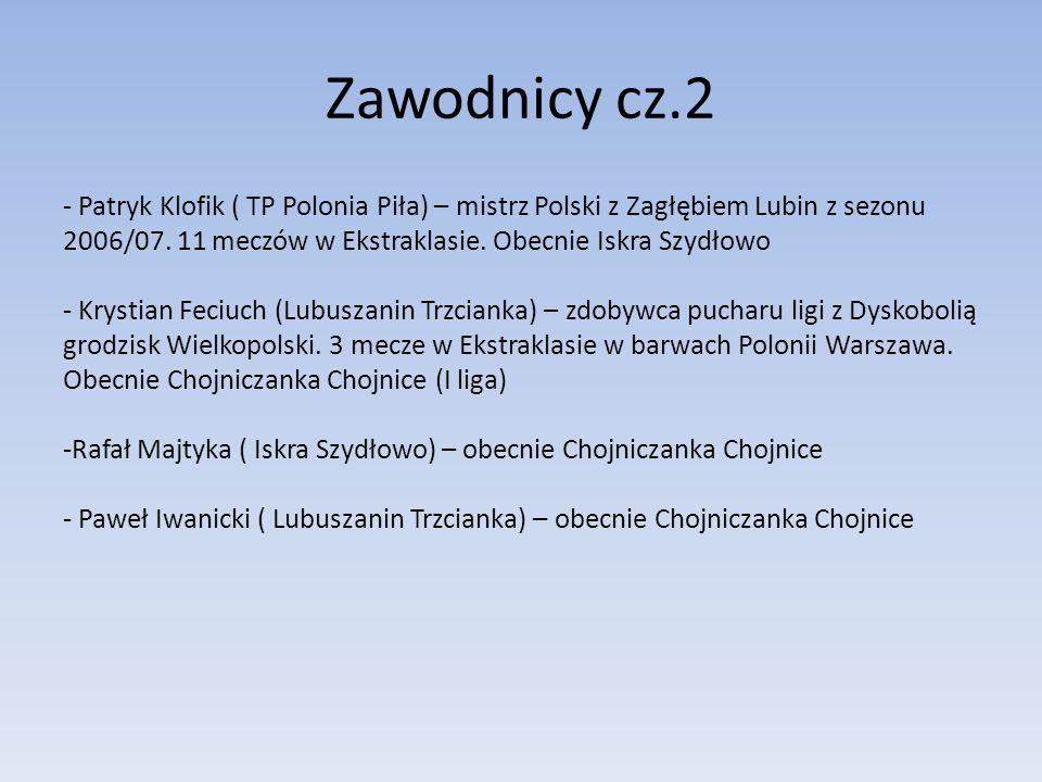 Zawodnicy cz.2 - Patryk Klofik ( TP Polonia Piła) – mistrz Polski z Zagłębiem Lubin z sezonu 2006/07. 11 meczów w Ekstraklasie. Obecnie Iskra Szydłowo