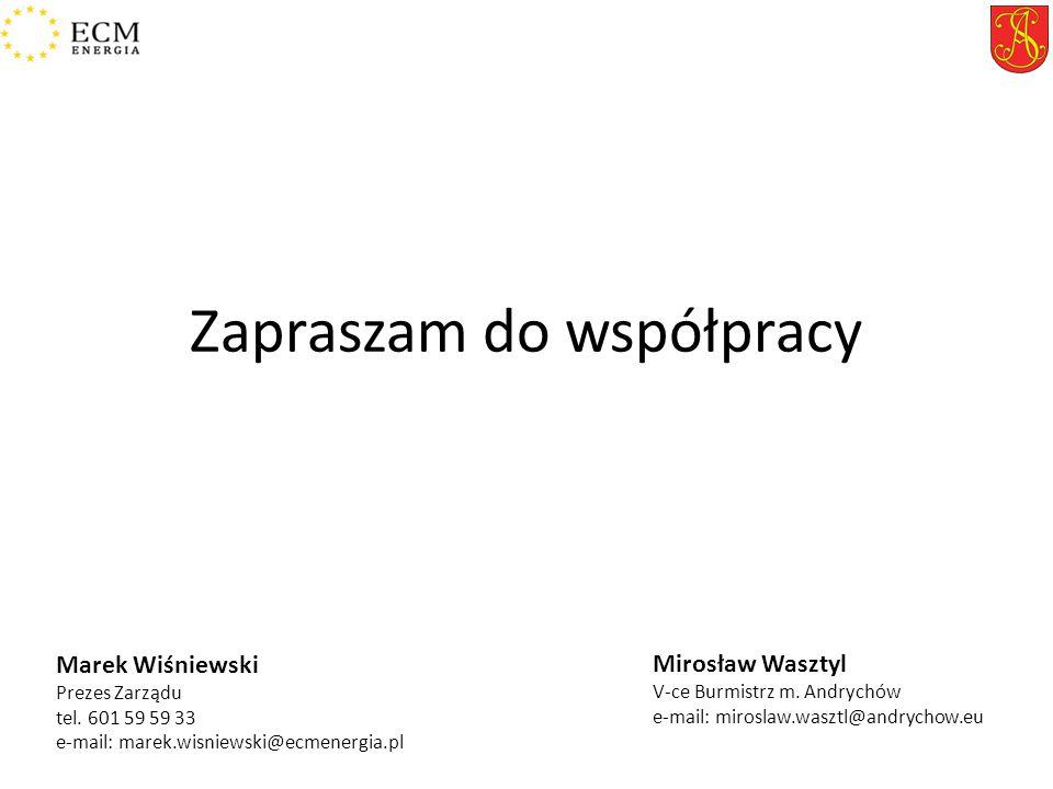 Zapraszam do współpracy Mirosław Wasztyl V-ce Burmistrz m.