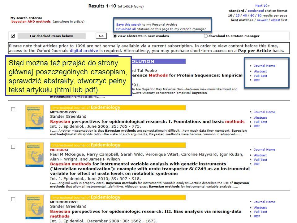 Bayesian AND methods Wpisując słowo lub frazę w okienko wyszukiwania prostego przeszukamy cały portal.
