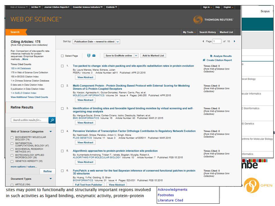 Wielofunkcyjne panele umożliwią na przykład ustawienie powiadomień o cytowaniach, uzyskanie informacji o podobnych artykułach, zapisywanie treści w archiwum (Add to my archive)...