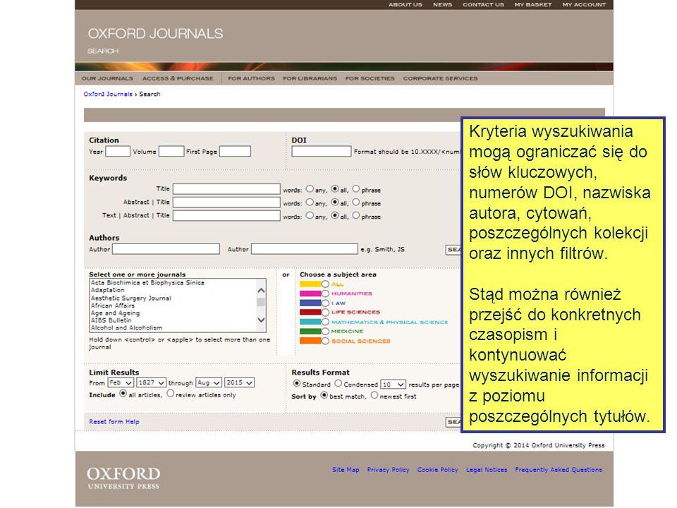 Wyszukiwanie można zdefiniować i zawęzić korzystając z wyszukiwarki zaawansowanej.