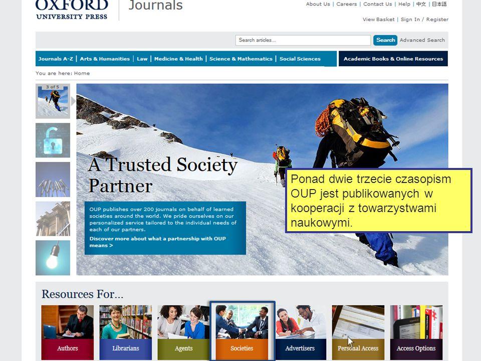 Oxford Journals Collection - kolekcja czasopism OUP, prezentuje awangardę światowych badań akademickich stanowiąc bezcenne źródło informacji dla użytk