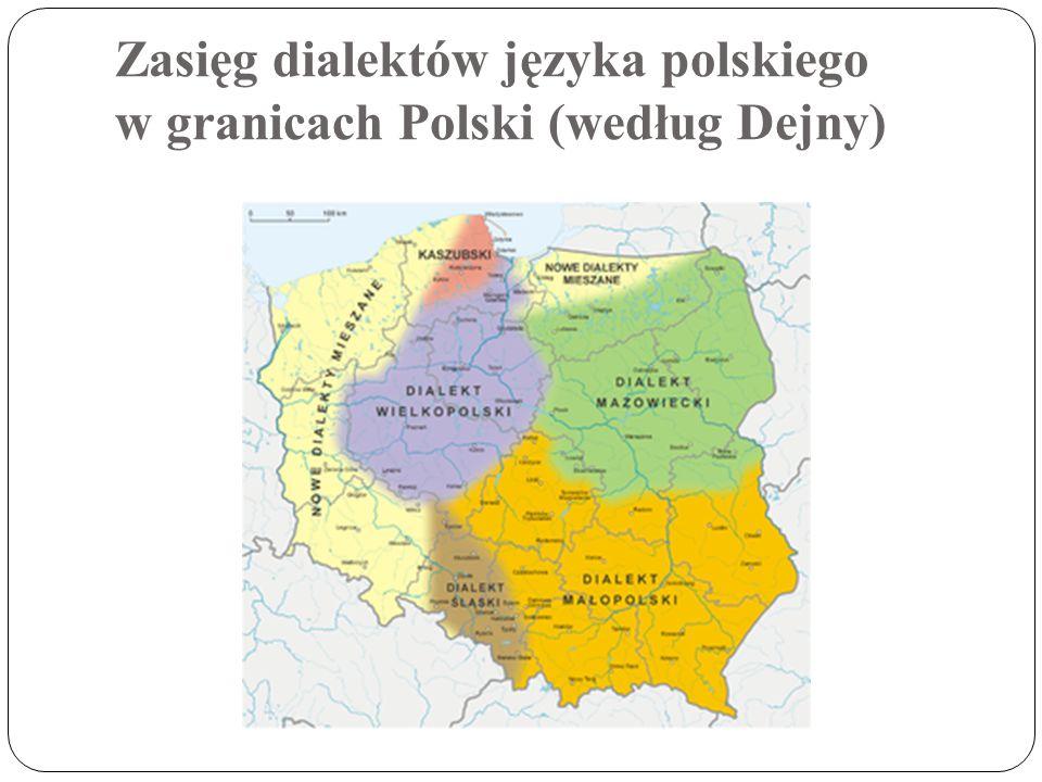 Zasięg dialektów języka polskiego (według Urbańczyka w modyfikacji A. Krawczyk-Wieczorek )