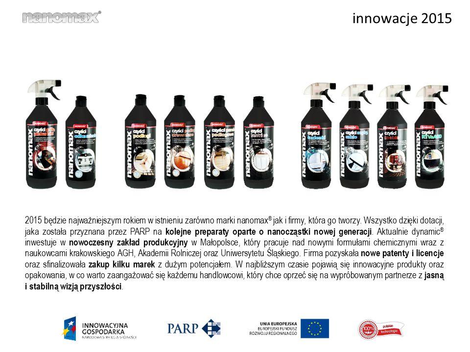 innowacje 2015 2015 będzie najważniejszym rokiem w istnieniu zarówno marki nanomax ® jak i firmy, która go tworzy. Wszystko dzięki dotacji, jaka zosta