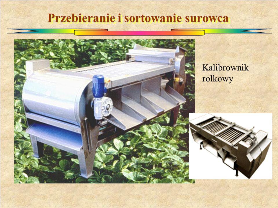 Przebieranie i sortowanie surowca Kalibrownik rolkowy