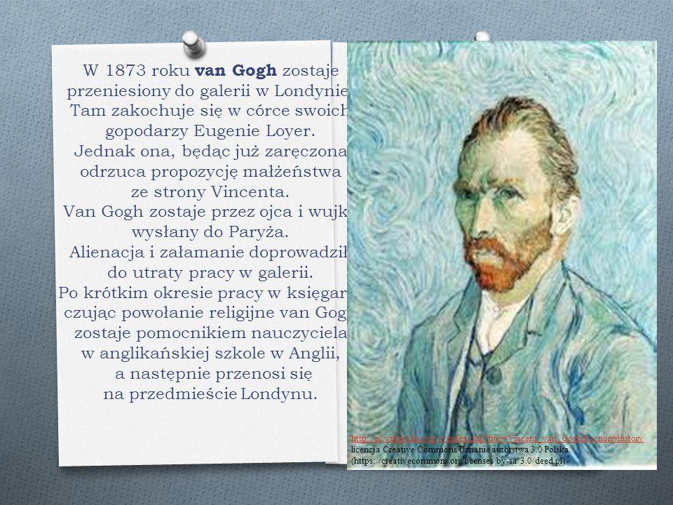 W 1873 roku van Gogh zostaje przeniesiony do galerii w Londynie. Tam zakochuje się w córce swoich gopodarzy Eugenie Loyer. Jednak ona, będąc już zaręc