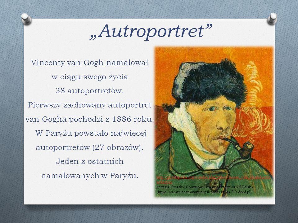 """""""Autroportret"""" Vincenty van Gogh namalował w ciągu swego życia 38 autoportretów. Pierwszy zachowany autoportret van Gogha pochodzi z 1886 roku. W Pary"""
