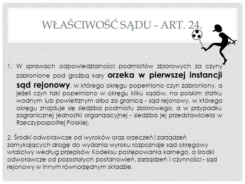 WŁAŚCIWOŚĆ SĄDU - ART. 24.