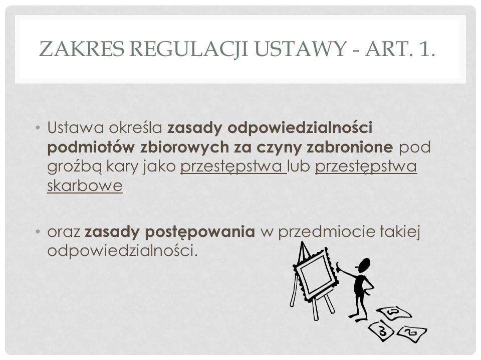 ZAKRES REGULACJI USTAWY - ART. 1.
