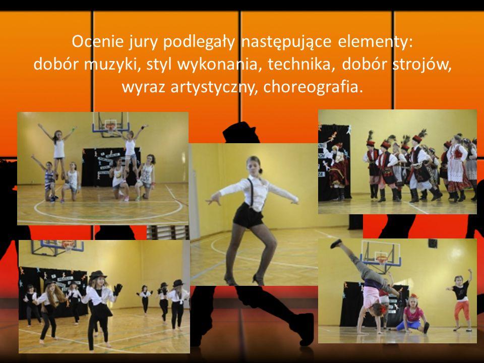 Ocenie jury podlegały następujące elementy: dobór muzyki, styl wykonania, technika, dobór strojów, wyraz artystyczny, choreografia.