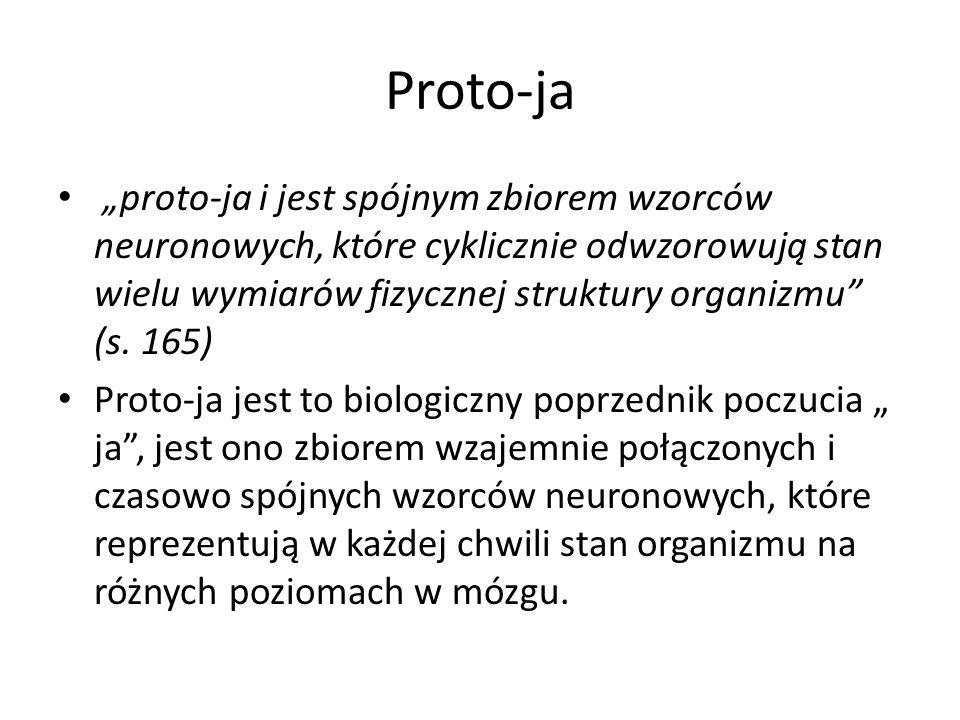"""Proto-ja """"proto-ja i jest spójnym zbiorem wzorców neuronowych, które cyklicznie odwzorowują stan wielu wymiarów fizycznej struktury organizmu (s."""