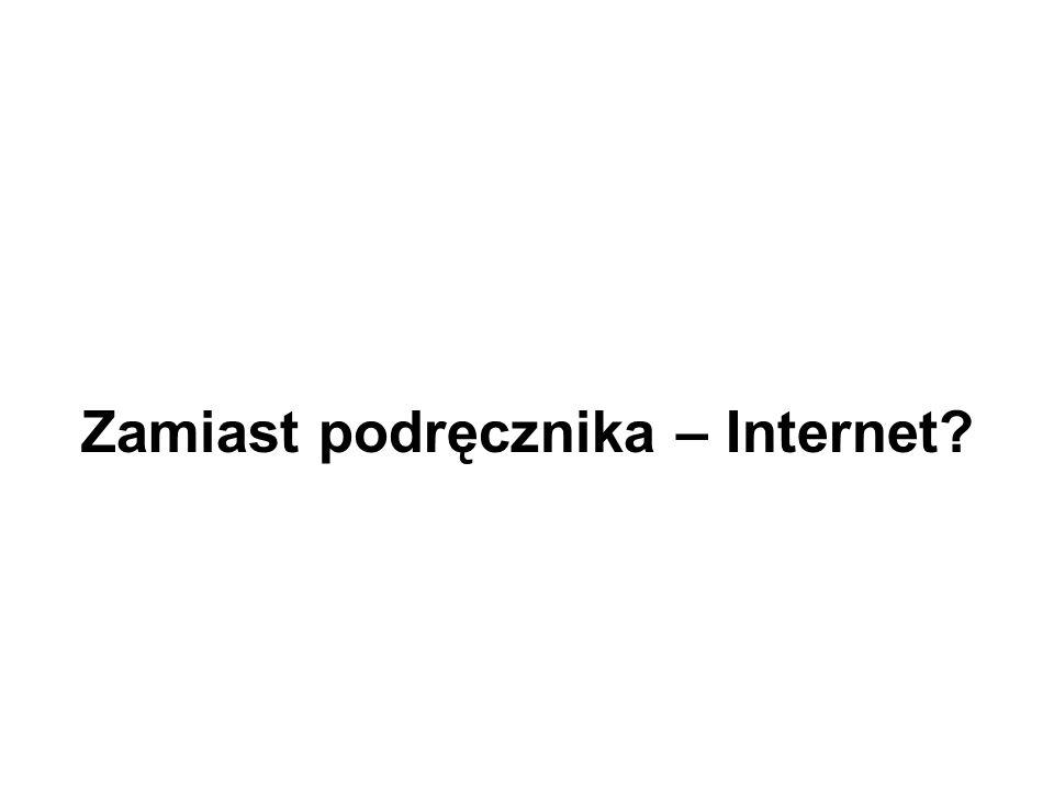 Zamiast podręcznika – Internet