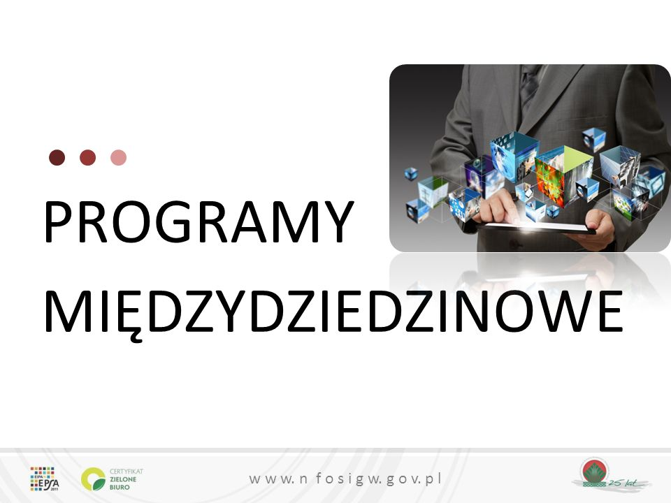w w w. n f o s i g w. g o v. p l PROGRAMY MIĘDZYDZIEDZINOWE