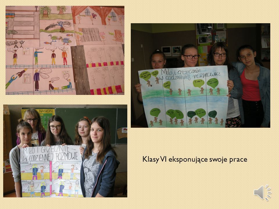 Plakaty wykonane podczas lekcji wychowawczej.