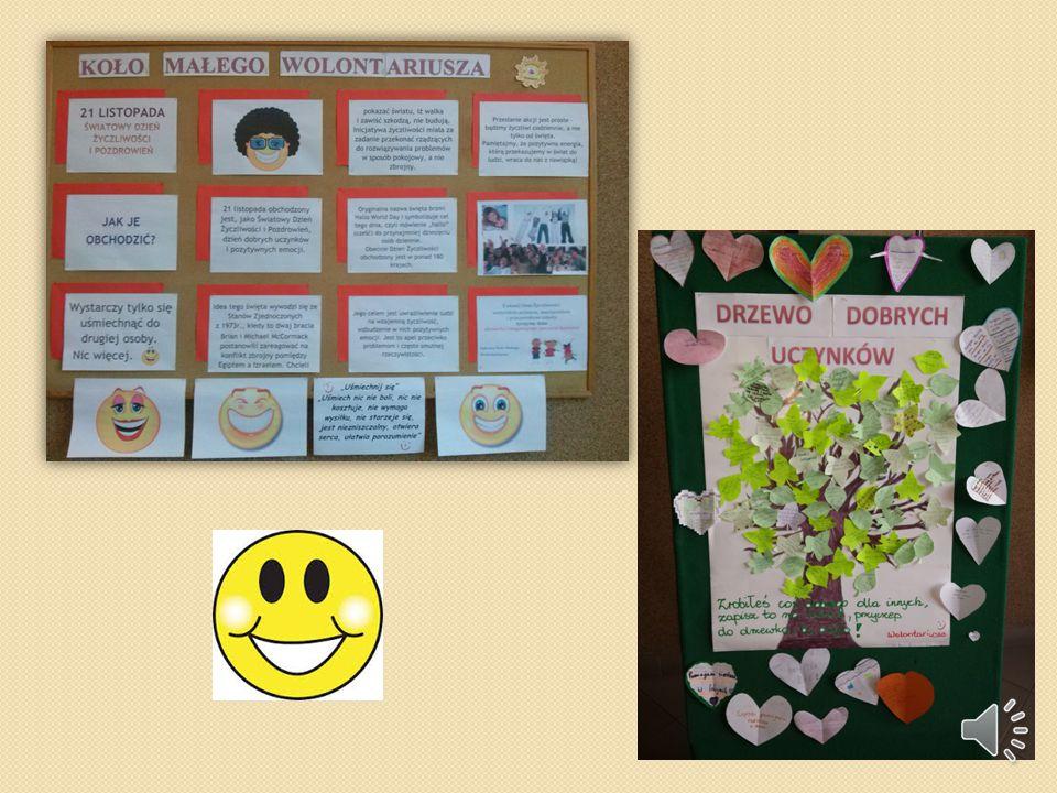 """""""DZIEŃ ŻYCZLIWOŚCI I POZDROWIEŃ"""" Kolejnym działanie podjętym w ramach innowacji pedagogicznej było obchodzenie Światowego Dnia Życzliwości i Pozdrowie"""