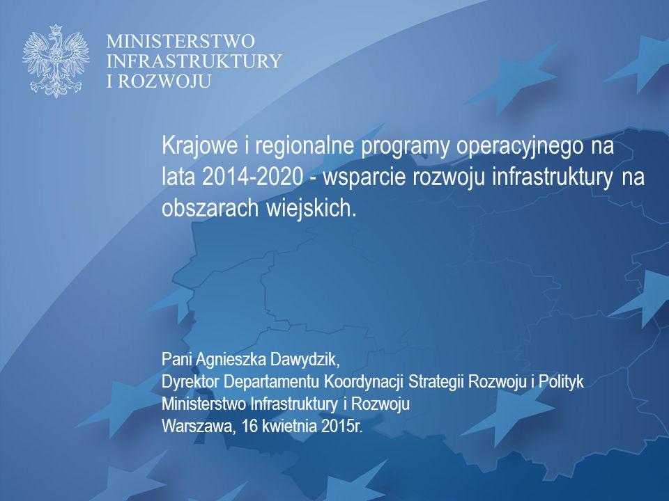 Krajowe i regionalne programy operacyjnego na lata 2014-2020 - wsparcie rozwoju infrastruktury na obszarach wiejskich.