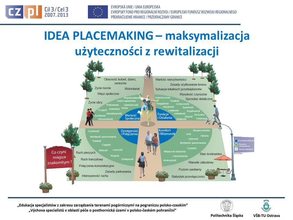 IDEA PLACEMAKING – maksymalizacja użyteczności z rewitalizacji