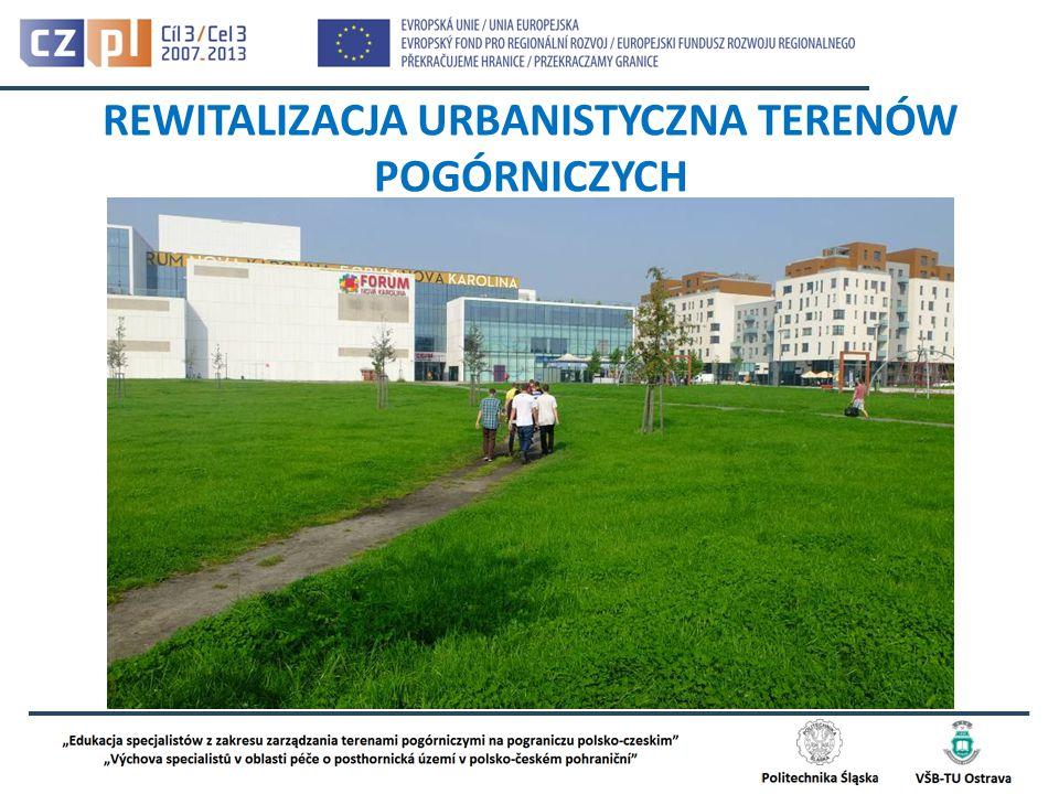 1.Wprowadzenie do problematyki rewitalizacji urbanistycznej 2.Zagospodarowanie przestrzenne w kontekście idei zrównoważonego rozwoju 3.Cele i metody projektowania urbanistycznego i planowania przestrzennego 4.Kierunki przekształceń terenów pogórniczych na nowe funkcje 5.Relacje funkcjonalno-przestrzenne obszarów pogórniczych i terenów przyległych (komunikacja, zabudowa, zieleń itp.) 6.Związki urbanistyki z architekturą na terenach pogórniczych: plany, projekty, koncepcje i realizacje