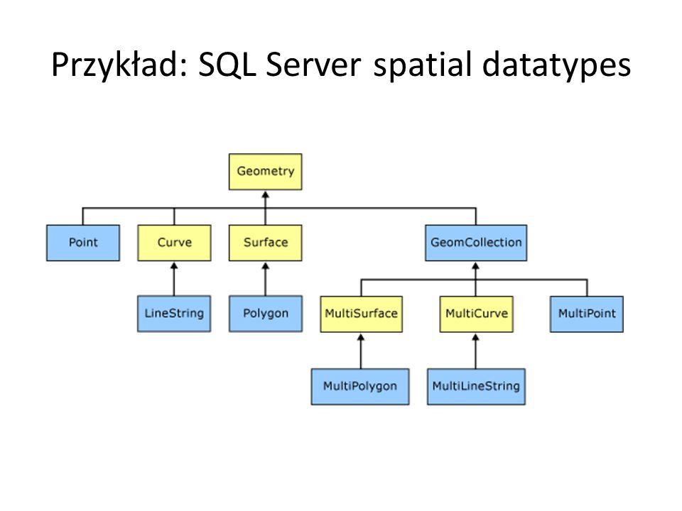 Przykład: SQL Server spatial datatypes