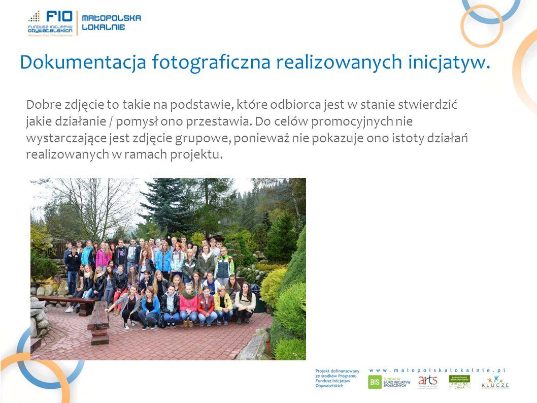 Dokumentacja fotograficzna realizowanych inicjatyw.