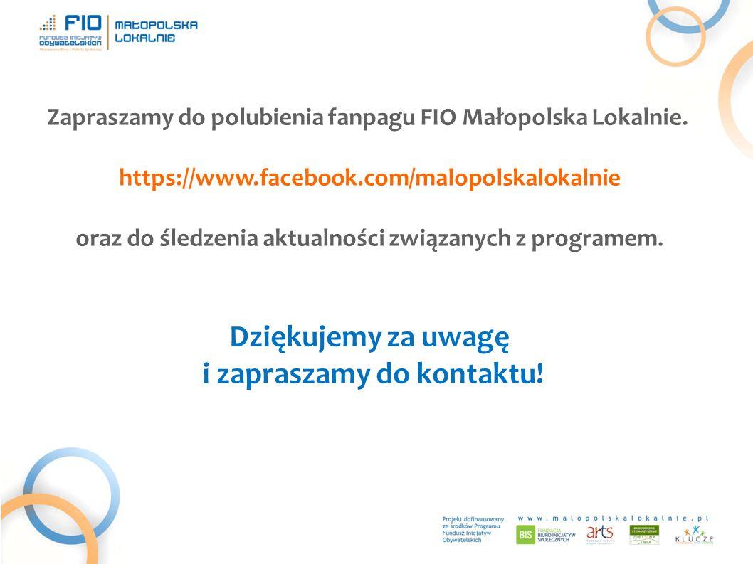 Zapraszamy do polubienia fanpagu FIO Małopolska Lokalnie.