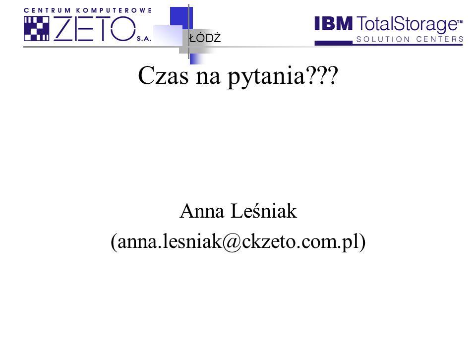 ŁÓDŹ Czas na pytania??? Anna Leśniak (anna.lesniak@ckzeto.com.pl)