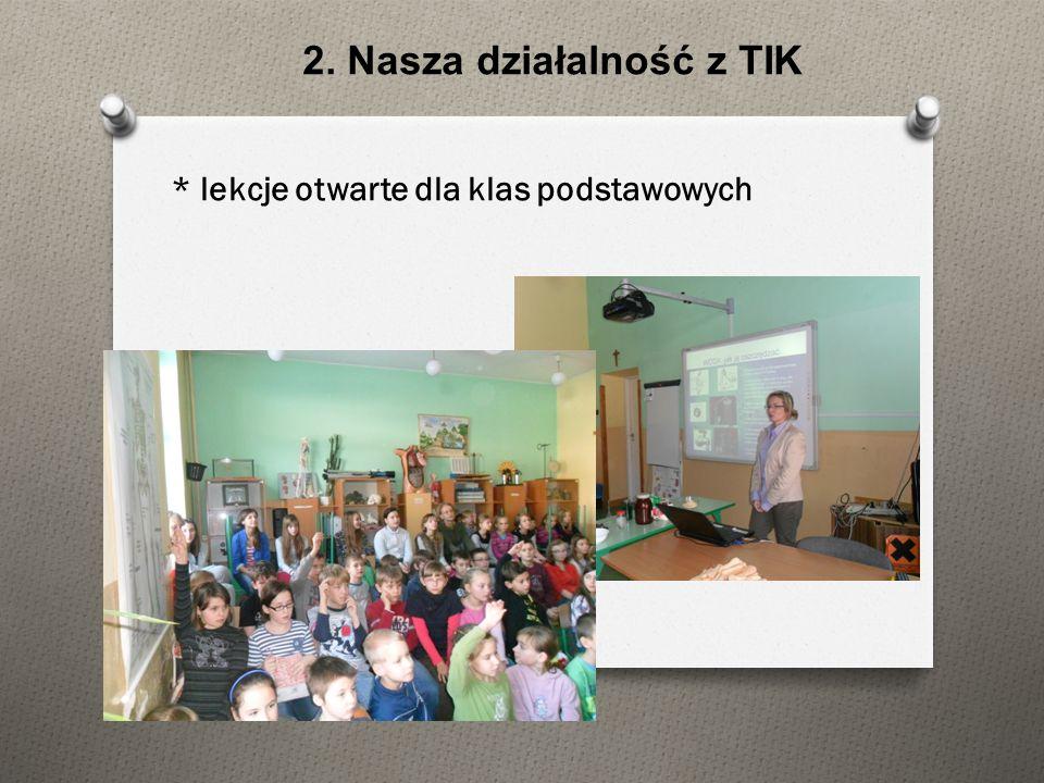 * lekcje otwarte dla rodziców uczniów gimnazjalnych