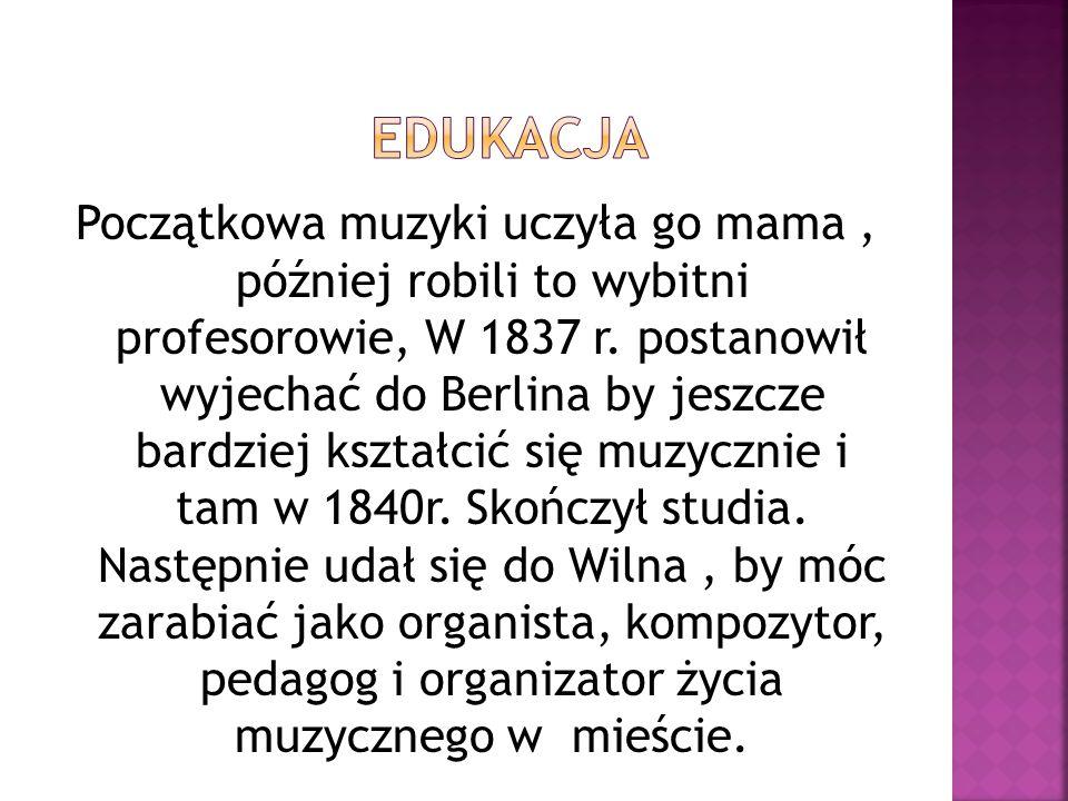 Osoby występujące w operze:  Miecznik -bas  Hanna i Jadwiga, córki Miecznika - sopran i mezzosopran  Pan Damazy - tenor  Stefan i Zbigniew, dwaj bracia - tenor i bas  Cześnikowa, stryjenka - sopran  Maciej, sługa - bas  Skołuba, klucznik Miecznika - bas  Marta, klucznica braci: Stefana i Zbigniewa - sopran  żołnierze, wieśniacy, myśliwi