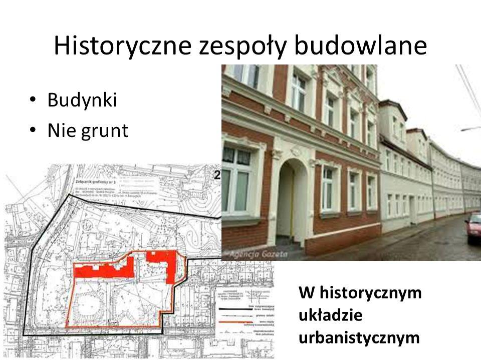 Historyczne zespoły budowlane Budynki Nie grunt W historycznym układzie urbanistycznym