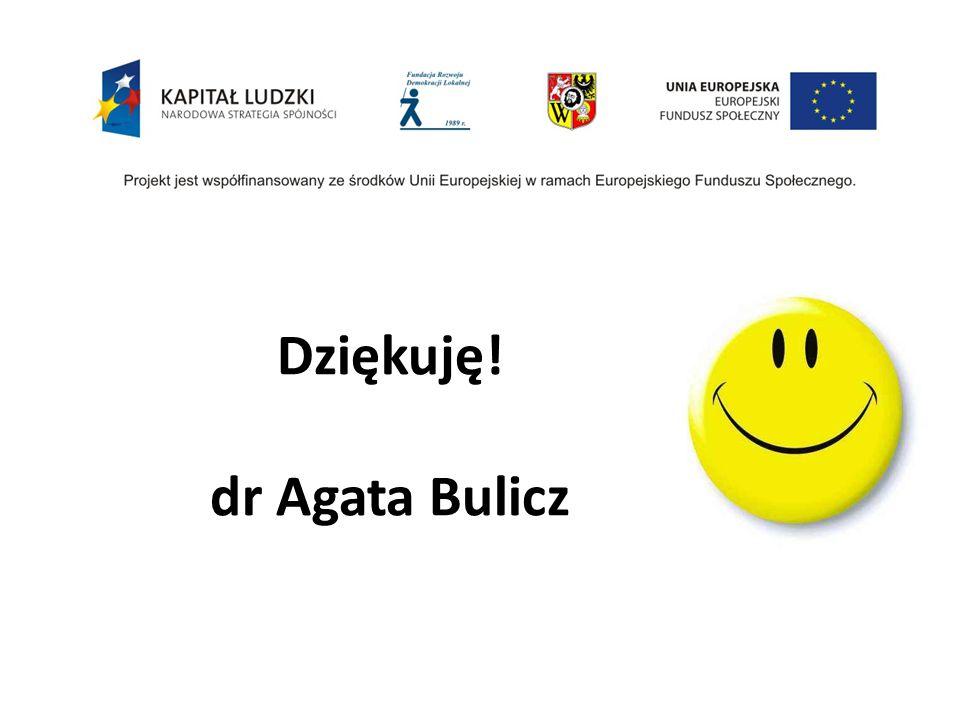 Dziękuję! dr Agata Bulicz