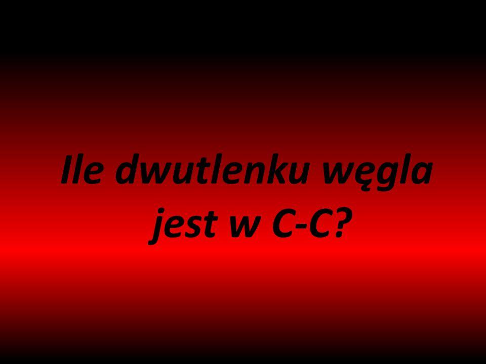 Ile dwutlenku węgla jest w C-C