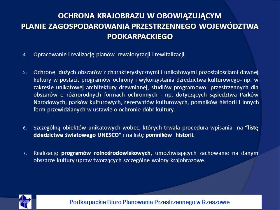 4.Opracowanie i realizację planów rewaloryzacji i rewitalizacji.
