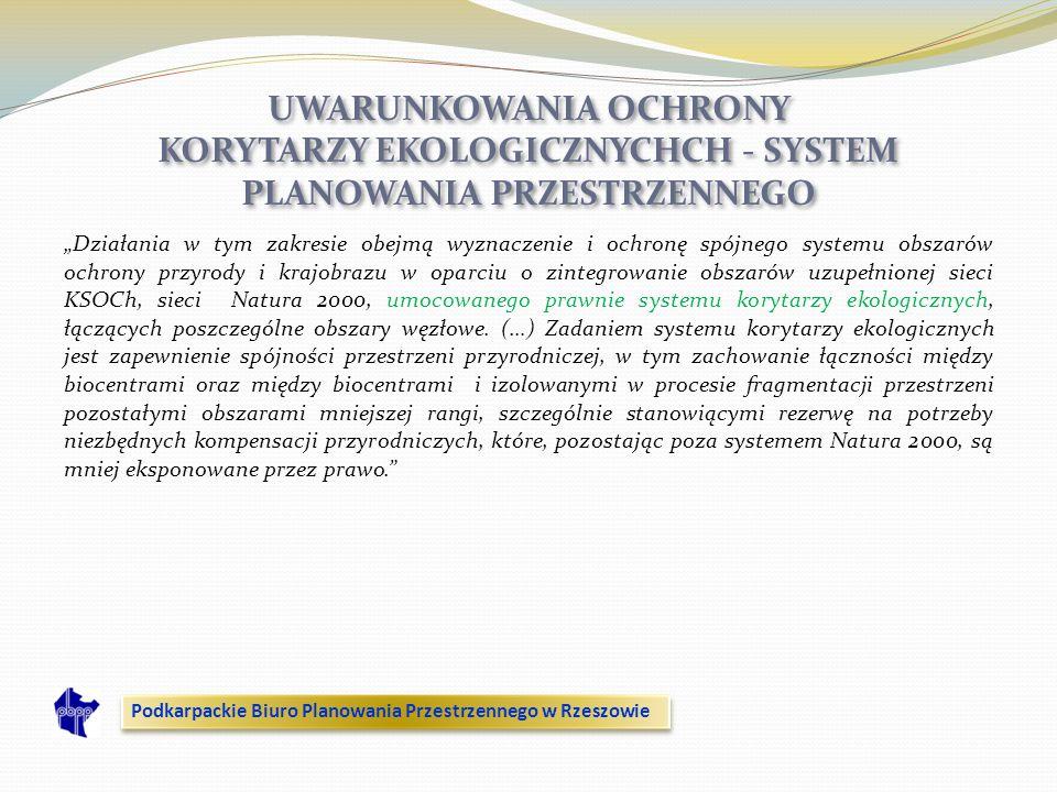 Działania w tym zakresie obejmą wyznaczenie i ochronę spójnego systemu obszarów ochrony przyrody i krajobrazu w oparciu o zintegrowanie obszarów uzupe