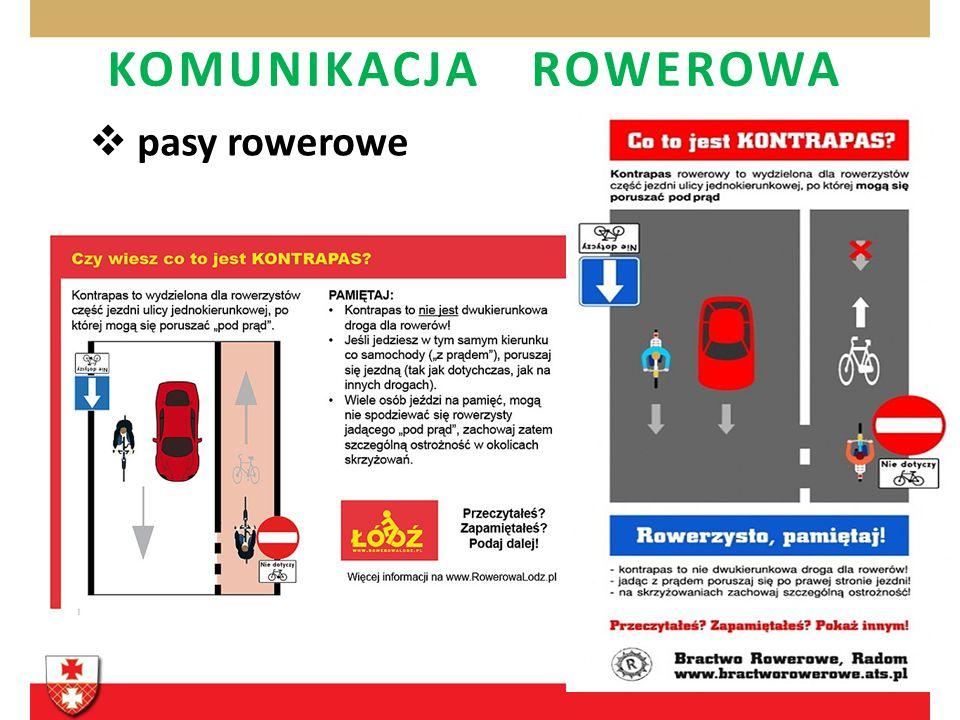 KOMUNIKACJA ROWEROWA pasy rowerowe