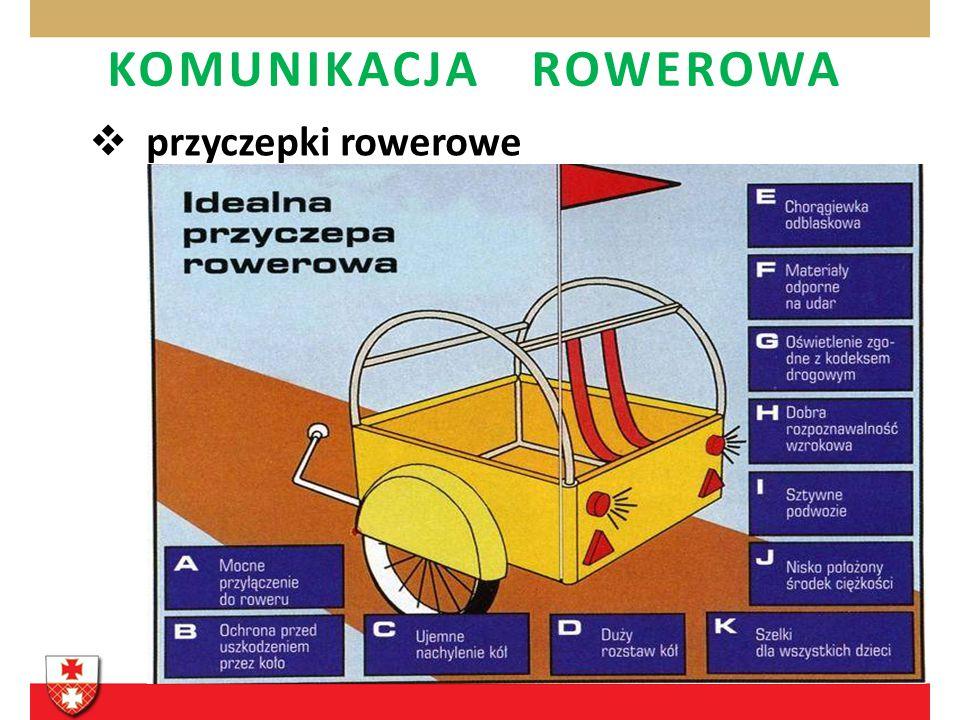 KOMUNIKACJA ROWEROWA przyczepki rowerowe