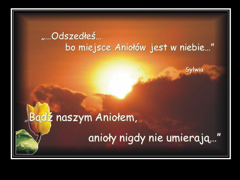 Bądź naszym Aniołem, anioły nigdy nie umierają… …Odszedłeś… bo miejsce Aniołów jest w niebie… Sylwia