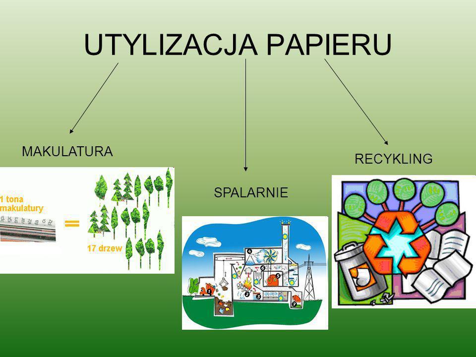UTYLIZACJA PAPIERU MAKULATURA SPALARNIE RECYKLING