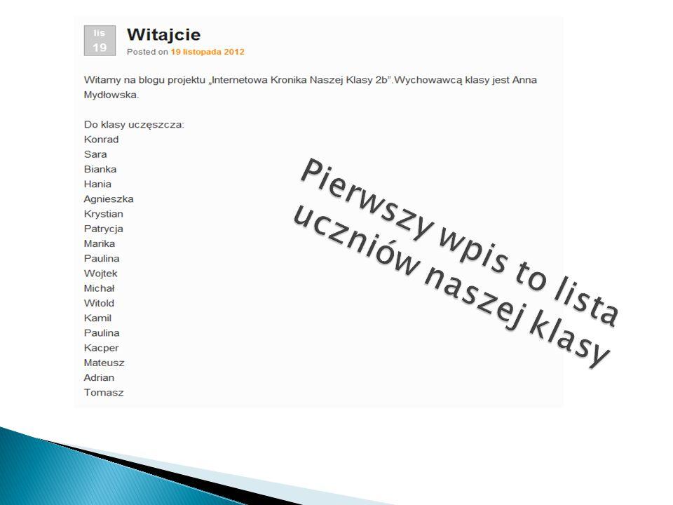 Nasz blog narodził się dnia 19 listopada 2012r. Blog prowadzą: -Wojtek Szczepanik -Krystian Zazulczak -Kacper Chomunt -Kamil Janik